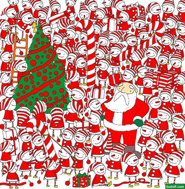 Художник из Венгрии озадачил Сеть рождественскими загадками. 16402.jpeg