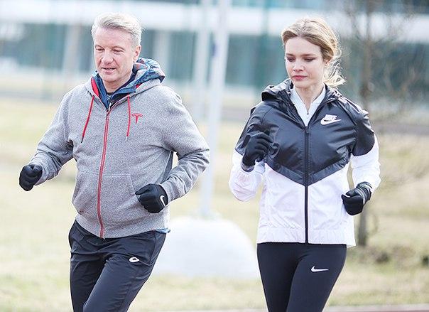 Наталья Водянова и Герман Греф провели совместную тренировку